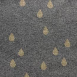 Tissu Alb jacquard drops gris lurex doré - 495