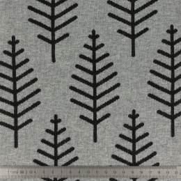 Tissu Alb jacquard botanical trail gris - 495