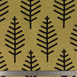 Tissu Alb jacquard botanical trail moutarde - 495