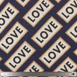 Tissu jacquard Alb Stoffe sparkle love - 495