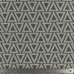 Tissu plain stitches fir trees gris - 495