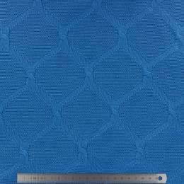 Tissu Alb plain stitches cross knitty turquoise - 495