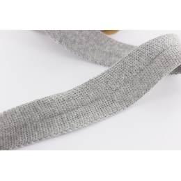 Bande jersey Edge Me 3,2 cm gris clair - 495