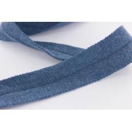Bande jersey Edge Me 3,2 cm bleu jeans - 495