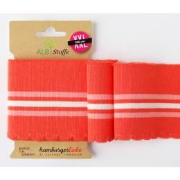 Bord-côte bio cuff me wave orange/rose/blanc 140cm - 495