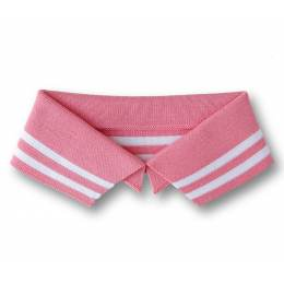 Col Polo Me Alb Stoffe rose Taille L - 495