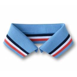 Col Polo Me Alb Stoffe ciel bleu rouge Taille M - 495