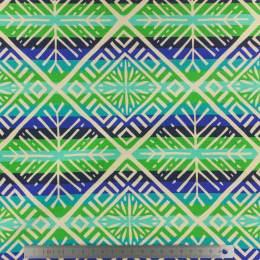 Tissu Alb plain stitches snowflake vert 175cm - 495