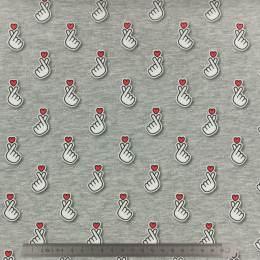 Tissu ALB Stoffe Sakura baby hearts - 495