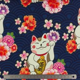 Tissu ALB Stoffe Sakura maneki neko - 495