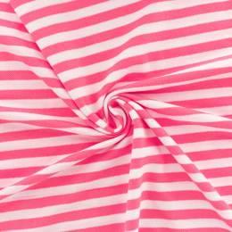 Tissu piqué rayé Alb Stoffe rose - 495