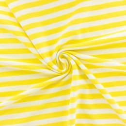 Tissu piqué rayé Alb Stoffe jaune - 495