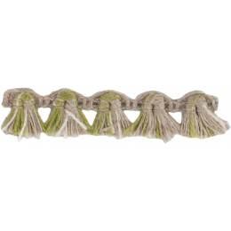 Franges lin acrylique lin ivoire kaki 10 mm - 496
