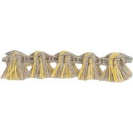 Franges lin acrylique lin ivoire jaune 10 mm - 496