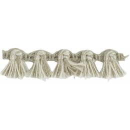 Franges lin acrylique lin ivoire 10 mm - 496