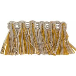 Franges lin jaune doré 35 mm - 496