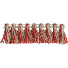 Franges lin rouge doré 35 mm - 496