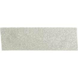Ruban sergé coton et lurex argent 25mm - 496