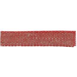 Ruban lin acrylique rouge et lin 10 mm - 496