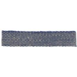 Ruban lin acrylique marine et lin 10 mm - 496
