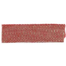 Ruban lin acrylique rouge et lin 15 mm - 496