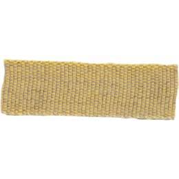 Ruban lin acrylique jaune et lin 15 mm - 496