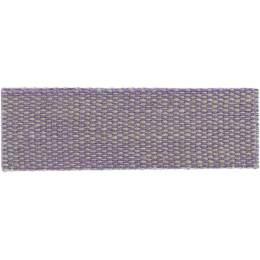 Ruban lin acrylique mauve et lin 15 mm - 496