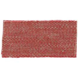 Ruban lin acrylique rouge et lin 25 mm - 496