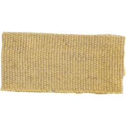 Ruban lin acrylique jaune et lin 25 mm - 496
