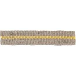 Ruban lin rayé jaune 10 mm - 496
