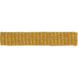 Ruban lin jaune doré 10 mm - 496