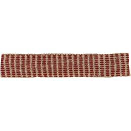 Ruban lin bordeaux doré 10 mm - 496