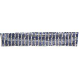 Ruban lin marine argent 10 mm - 496