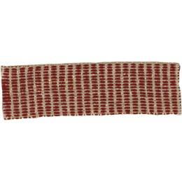 Ruban lin bordeaux doré 15 mm - 496