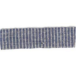 Ruban lin marine argent 15 mm - 496