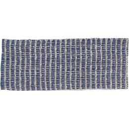 Ruban lin marine argent 25 mm - 496