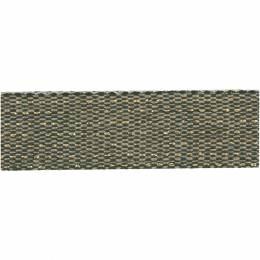 Ruban lin bicolore fil doré 15 mm - 496
