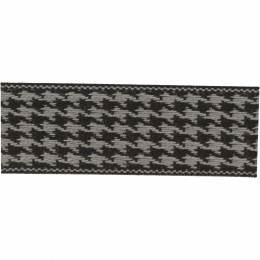 Ruban lin bicolore noir/gris 25 mm - 496