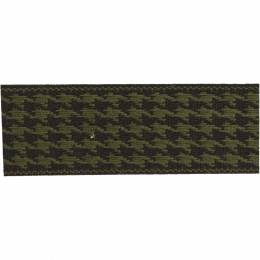 Ruban lin bicolore noir/vert 25 mm - 496