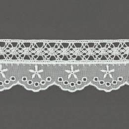 Dentelle et broderie anglaise 40 mm 100% coton - 497