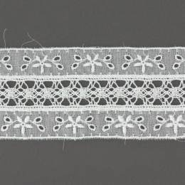 Dentelle et broderie anglaise 47 mm 100% coton - 497