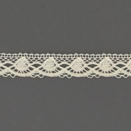Dentelle 18 mm 100% coton blanc - 497