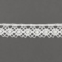 Dentelle 22 mm 100% coton blanc - 497