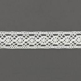 Dentelle 21 mm 100% coton blanc - 497