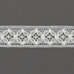 Dentelle 26 mm 90%polyester 10%acrylique blanc - 497