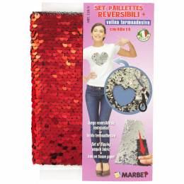 Set paillettes réversibles + voile thermocollante - 498