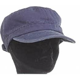 """Casquette """"cubaine"""" coton délavé h. t56 bleu - 50"""