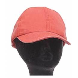 Casquette coton délavé h. TU rouge - 50
