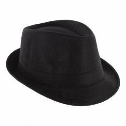 Chapeau fédora polyester ruban mixte noir TU - 50