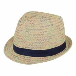 Chapeau enfant paille marine t.52 - 50
